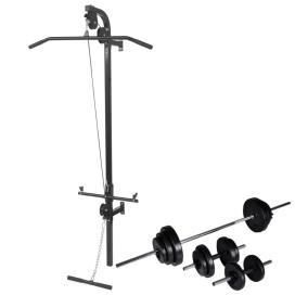 Falra szerelhető edzőtorony súlyzókészlettel 30,5 kg - utánvéttel vagy ingyenes szállítással
