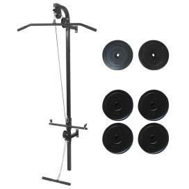 Falra szerelhető edzőtorony súlyzótárcsákkal 40 kg - utánvéttel vagy ingyenes szállítással