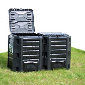 Fekete kerti komposztáló 800 L - utánvéttel vagy ingyenes szállítással