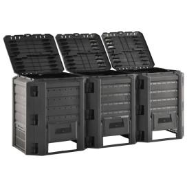 Fekete kerti komposztáló 1200 L - utánvéttel vagy ingyenes szállítással