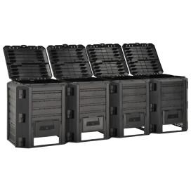 Fekete kerti komposztáló 1600 L - utánvéttel vagy ingyenes szállítással