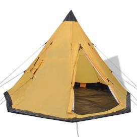 4 személyes sárga sátor - utánvéttel vagy ingyenes szállítással