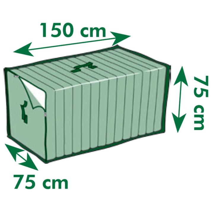 Nature kerti bútor védőhuzat párnákhoz 150 x 75 x 75 cm - utánvéttel vagy ingyenes szállítással