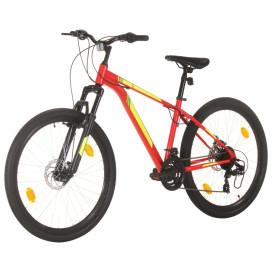 21 sebességes piros mountain bike 27,5 hüvelykes kerékkel 38 cm - utánvéttel vagy ingyenes szállítással