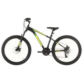 21 sebességes fekete mountain bike 27,5 hüvelykes kerékkel 38cm - utánvéttel vagy ingyenes szállítással