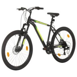 21 sebességes fekete mountain bike 27,5 hüvelykes kerékkel 42cm - utánvéttel vagy ingyenes szállítással