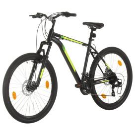 21 sebességes fekete mountain bike 27,5 hüvelykes kerékkel 50cm - utánvéttel vagy ingyenes szállítással