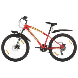 21 sebességes piros mountain bike 26 hüvelykes kerékkel 36 cm - utánvéttel vagy ingyenes szállítással