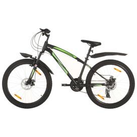 21 sebességes fekete mountain bike 26 hüvelykes kerékkel 36 cm - utánvéttel vagy ingyenes szállítással
