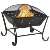 XXL acél tűztál piszkavassal 62 cm - utánvéttel vagy ingyenes szállítással