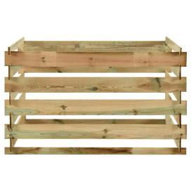 Lécezett impregnált fenyőfa kerti komposztáló 120 x 120 x 70 cm - utánvéttel vagy ingyenes szállítással