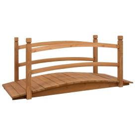 Tömör fenyőfa kerti híd 140 x 60 x 60 cm - utánvéttel vagy ingyenes szállítással