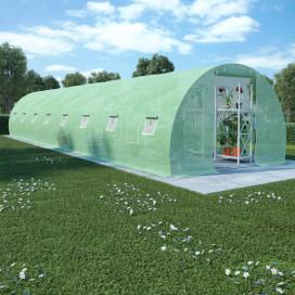 36 m²-es acélalapzatú melegház 1200 x 300 x 200 cm - utánvéttel vagy ingyenes szállítással