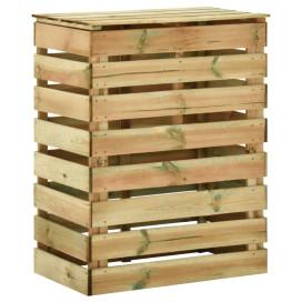 Lécezett impregnált fenyőfa kerti komposztáló 80 x 50 x 100 cm - utánvéttel vagy ingyenes szállítással