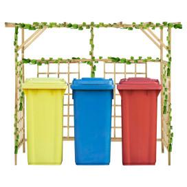 Impregnált fenyőfa kerti pergola 3 szemeteskukához - utánvéttel vagy ingyenes szállítással