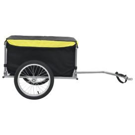 Kerékpár utánfutó fekete és sárga 65 kg - utánvéttel vagy ingyenes szállítással