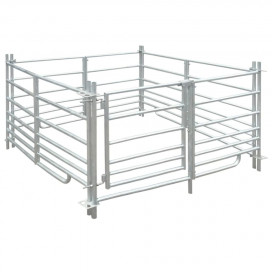 4-paneles horganyzott acél juhkarám 137 x 137 x 92 cm - utánvéttel vagy ingyenes szállítással