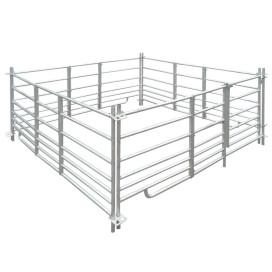 4-paneles horganyzott acél juhkarám 183 x 183 x 92 cm - utánvéttel vagy ingyenes szállítással