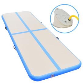 Kék PVC felfújható tornaszőnyeg pumpával 400 x 100 x 10 cm - utánvéttel vagy ingyenes szállítással