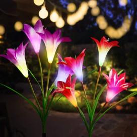 Lily Napelemes Kerti Lámpa, Rózsaszín